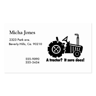 My Tractor Is A Chick Magnet Business Cards