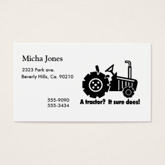 My Tractor Is A Chick Magnet Business Card