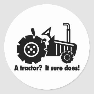 My Tractor Is A Chick Magnet Classic Round Sticker