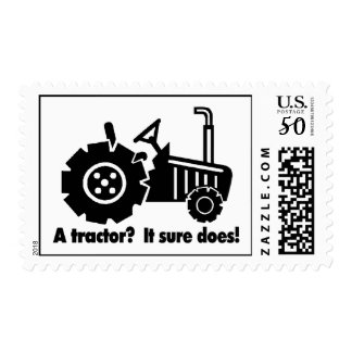 My Tractor Is A Chick Magnet Postage