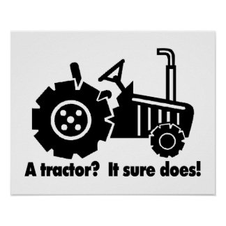 My Tractor Is A Chick Magnet Poster