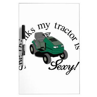 My Tractors Sexy Dry-Erase Board
