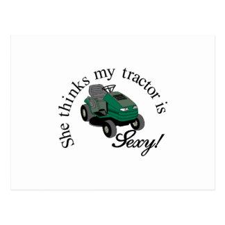 My Tractors Sexy Postcard