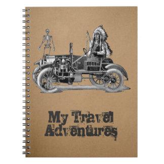 My travel adventures spiral notebook