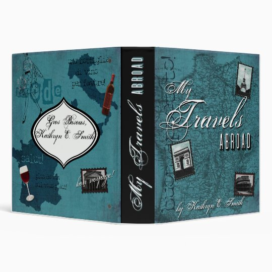 My Travels Abroad Photo Book 3 Ring Binder