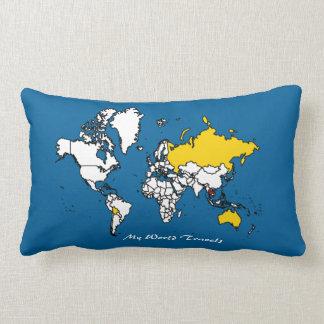 My Travels Lumbar Pillow
