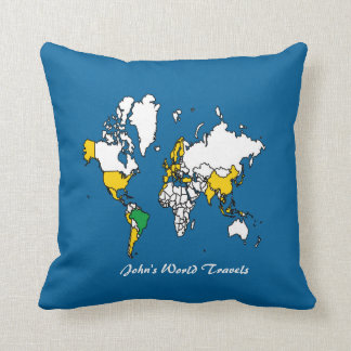 My Travels Pillow