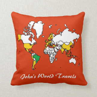 My Travels Throw Pillow