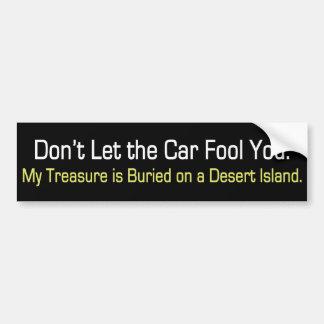 My Treasure Bumpersticker Car Bumper Sticker