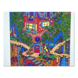 My Treehouse 132 by Piliero 4.25x5.5 Paper Invitation Card