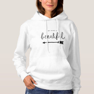 My Tribe is Beautiful Rustic Arrows Hoodie
