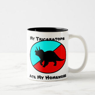 My Triceratops Ate My Homework Two-Tone Coffee Mug