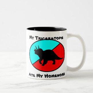 My Triceratops Ate My Homework Two-Tone Coffee Mug