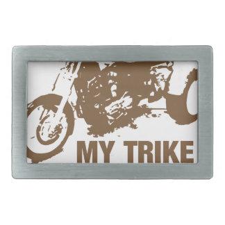 my trike my rules belt buckle