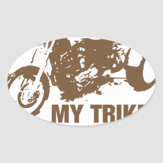 my trike my rules oval sticker