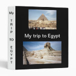 My Trip to Egypt  Avery Binder
