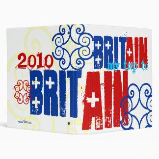 """My Trip to England 2010"" British Celtic Flag Binder"