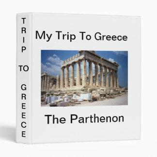 My Trip to Greece 3 Ring Binder