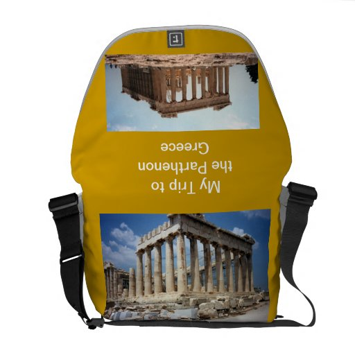 My Trip to Greece   Rickshaw Messenger Bag