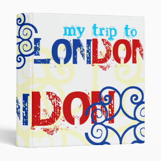 """My Trip to London"" British Celtic Red White Blue 3 Ring Binder"