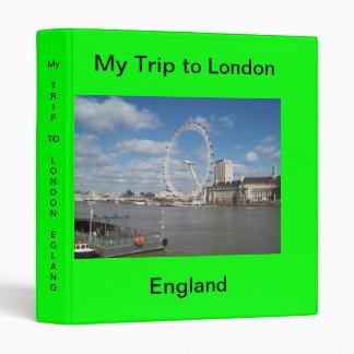 My Trip to London, England Binder