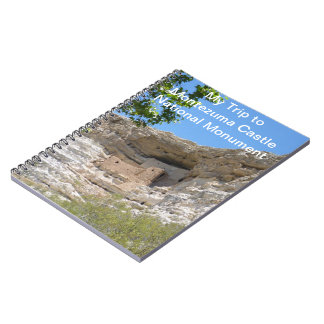 My Trip to Montezuma Castle National Monument Note Spiral Notebook