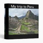 My Trip to Peru Binder