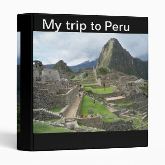 My Trip to Peru Binders
