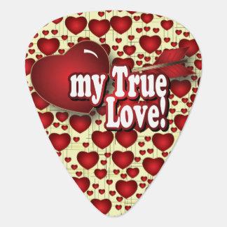 My True Love | Personalize Guitar Pick