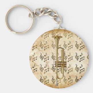 My Trumpet_ Basic Round Button Keychain