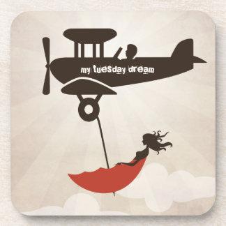 My Tuesday Dream - Umbrella Fantasy Drink Coaster