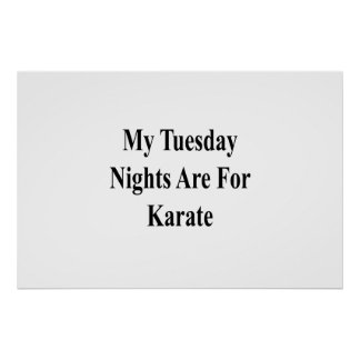My Tuesday Nights Are For Karate Poster
