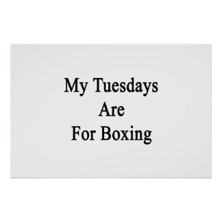 My Tuesdays Are For Boxing Poster