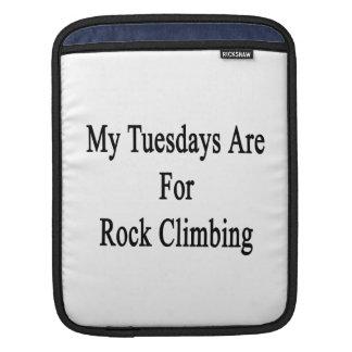 My Tuesdays Are For Rock Climbing iPad Sleeve