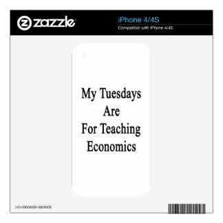 My Tuesdays Are For Teaching Economics Decal For iPhone 4