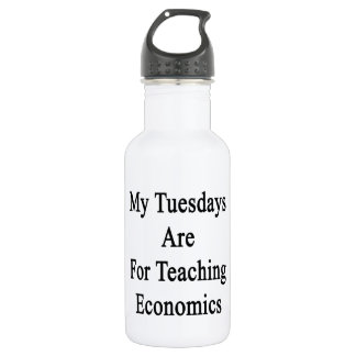 My Tuesdays Are For Teaching Economics Stainless Steel Water Bottle
