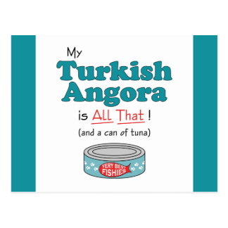 My Turkish Angora is All That! Funny Kitty Postcard