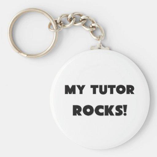 MY Tutor ROCKS! Basic Round Button Keychain