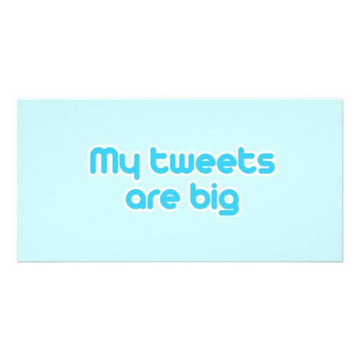 My tweets are big photo cards