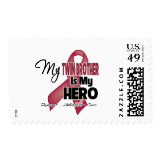 My Twin Brother is My Hero - Multiple Myeloma Postage Stamps