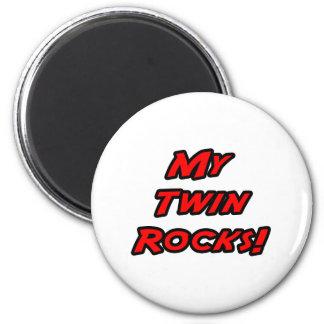 My Twin Rocks 2 Inch Round Magnet