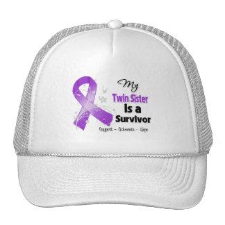My Twin Sister is a Survivor Purple Ribbon Trucker Hat