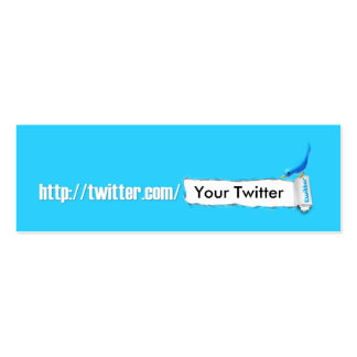 My Twitter Business Card Template
