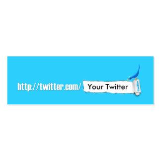 My Twitter Mini Business Card
