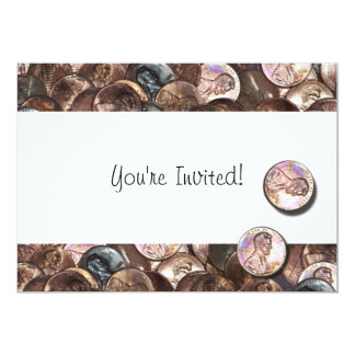 "My Two Cents Worth 5"" X 7"" Invitation Card"