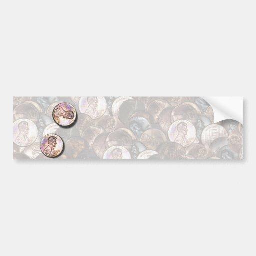 My Two Cents Worth (Lightened Background) Bumper Sticker
