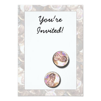 """My Two Cents Worth (Lightened Background) 5"""" X 7"""" Invitation Card"""