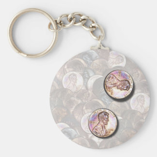 My Two Cents Worth (Lightened Background) Basic Round Button Keychain