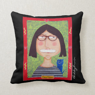 My Two Faced pillow. Created from my folk art. Throw Pillow