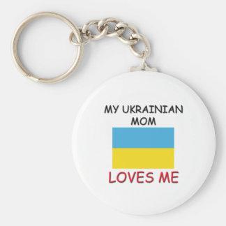 My Ukrainian Mom Loves Me Keychain